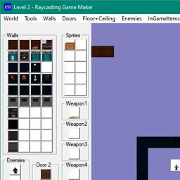 reviews raycasting game maker main screen