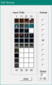 game maker add walls panel